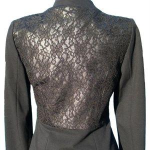 Cache Lined Hidden Zipper Elaborate Lace Back $188